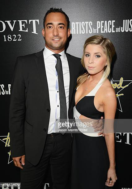 Producer Matthew Lamothe and actress Lindsay Lamb attend the 7th Annual Hollywood Domino and Bovet 1822 Gala benefiting artists for peace and justice...