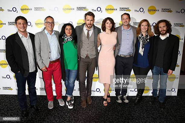 Producer Matthew Rhodes director of the Sundance Film Festival John Cooper director Marjane Satrapi actor Ryan Reynolds Gemma Arterton director of...