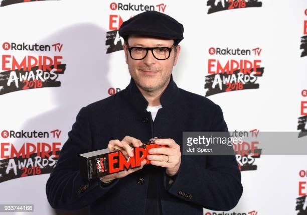 Producer Matthew Vaughn winner of the Best Thriller award for 'Kingsman The Golden Circle' poses in the winners room at the Rakuten TV EMPIRE Awards...