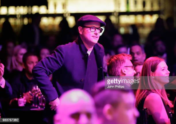 Producer Matthew Vaughn wins the Best Thriller award for 'Kingsman The Golden Circle' during the Rakuten TV EMPIRE Awards 2018 at The Roundhouse on...