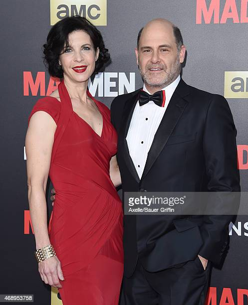 Producer Matthew Weiner and wife Linda Brettler attend the 'Mad Men' Black & Red Ball at Dorothy Chandler Pavilion on March 25, 2015 in Los Angeles,...