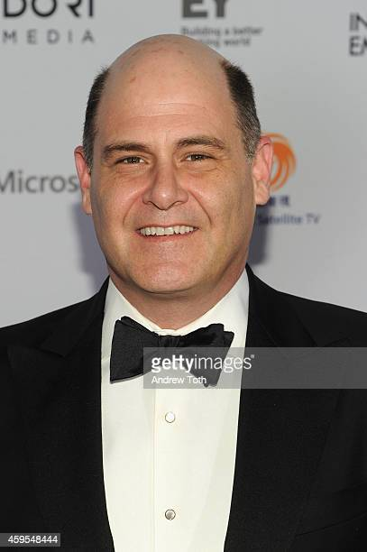 Producer Matthew Weiner attends the 2014 International Academy Of Television Arts Sciences Awards Arrivals at New York Hilton on November 24 2014 in...
