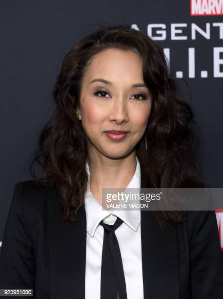Producer Maurissa Tancharoen attends Marvel's Agents of SHIELD 100th Episode Celebration in Hollywood California on February 24 2018 / AFP PHOTO /...