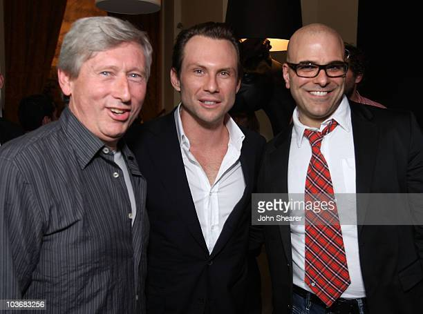 Producer Max Howard actor Christian Slater and director Tony Leondis attend the Igor reception photocall in the HP Lounge at the Majestic Hotel...