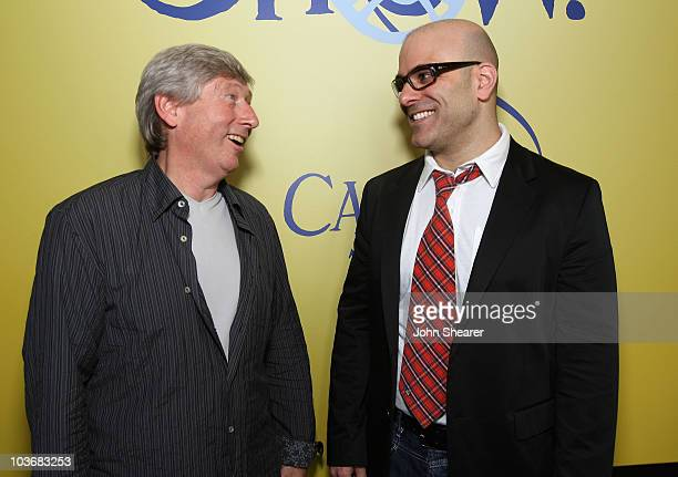Producer Max Howard and director Tony Leondis attend the Igor reception photocall in the HP Lounge at the Majestic Hotel during the 61st Cannes...