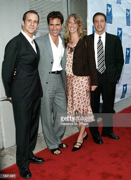 Producer Max Mutchnick actor Eric McCormack and his wife Janet and producer David Kohan attend the Project Angel Food's Angel Awards 2002 on August...