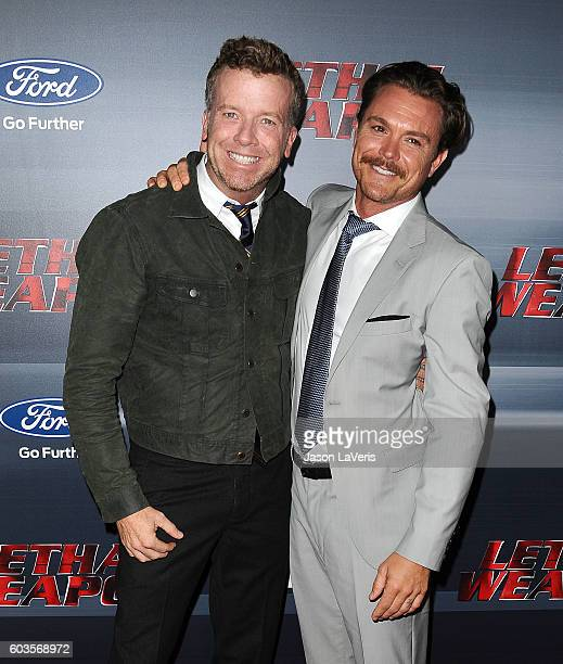 Producer McG and actor Clayne Crawford attend the premiere of 'Lethal Weapon' at NeueHouse Hollywood on September 12 2016 in Los Angeles California