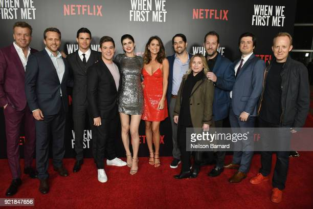 Producer McG director Ari Sandel actors Robbie Amell Adam DeVine Alexandra Daddario Shelley Hennig and producers Adam Saunders Mary Viola and Mason...
