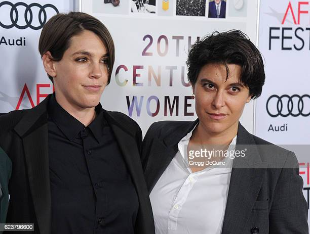 Producer Megan Ellison and executive producer Chelsea Barnard arrive at the AFI FEST 2016 Presented By Audi A Tribute To Annette Bening And Gala...