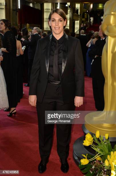 Producer Megan Ellison attends the Oscars held at Hollywood Highland Center on March 2 2014 in Hollywood California