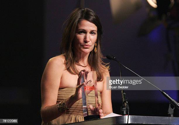 Producer Meghan O'Hara winner of Best Documentary accepts her award onstage at the 17th Annual Gotham Awards presented by IFP at Steiner Studios...