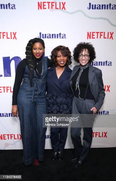 Producer Mel Jones actress Alfre Woodard producer Stephanie Allain attend 'Juanita' Special Screening on March 07 2019 in New York City