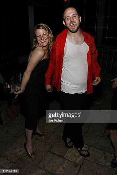 Producer Melanie Sylvan and Director Timothy Haskell attend Stitching Opening Night Party on June 25 2008 in New York City