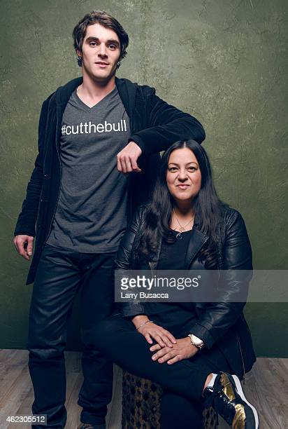 Producer Melinda Esquibel and actor RJ Mitte pose for a portrait at the Village at the Lift Presented by McDonald's McCafe during the 2015 Sundance...