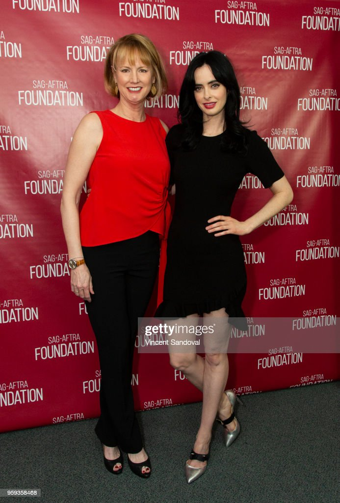 Producer Melissa Rosenberg (L) and Actress Krysten Ritter attend SAG-AFTRA Foundation Conversations screening of 'Jessica Jones' at SAG-AFTRA Foundation Screening Room on May 16, 2018 in Los Angeles, California.