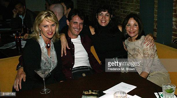 Producer Melissa Wyler Tito Arenal Marla Bernstein and producer Vicki McCarty attend the Loma Lynda concert at Cinespace on March 16 2004 in...