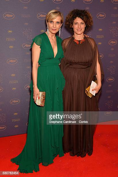 Producer Melita Toscan du Plantier and Director Ginevra Elkann arrive at the Opening Gala Dinner during The 69th Annual Cannes Film Festival on May...