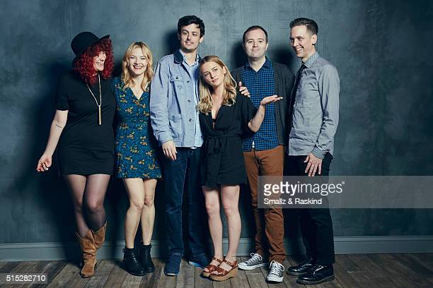 Producer Melodie Sisk actors Kristin Slaysman Keith Poulson Addison Timlin writer/director Zach Clark and producer Daryl Pittman of 'Little Sister'...