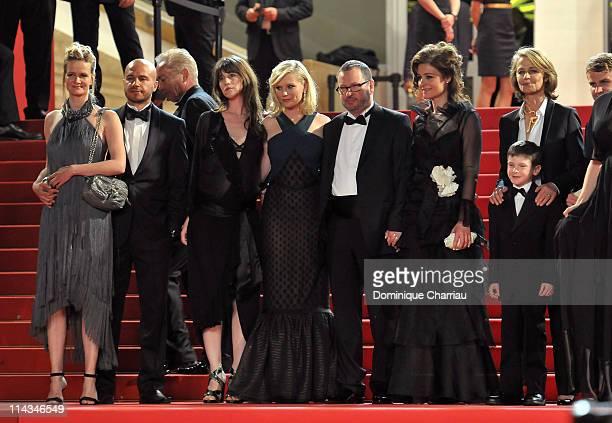 Producer Meta Foldager guest Charlotte Gainsbourg Kirsten Dunst Director Lars von Trier Bente Froge and Charlotte Rampling attend the Melancholia...