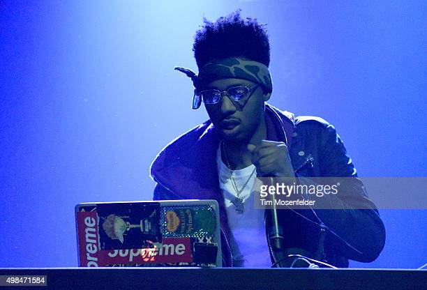 Producer Metro Boomin performs during the 'Family Matters Tour' at the Fox Theater on November 21 2015 in Oakland California