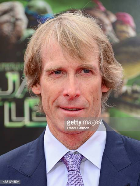 Producer Michael Bay attends Paramount Pictures' 'Teenage Mutant Ninja Turtles' premiere at Regency Village Theatre on August 3 2014 in Westwood...
