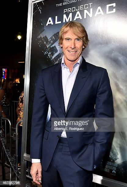 Producer Michael Bay attends the premiere of Paramount Pictures' Project Almanac at TCL Chinese Theatre on January 27 2015 in Hollywood California