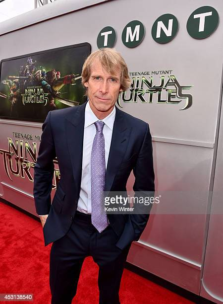 Producer Michael Bay attends the premiere of Paramount Pictures' 'Teenage Mutant Ninja Turtles' at Regency Village Theater on August 3 2014 in...