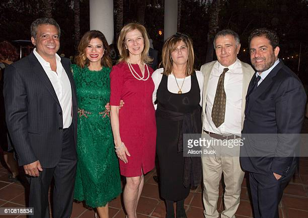 Producer Michael De Luca actress Angelique Madrid CEO of the Academy of Motion Picture Arts and Sciences Dawn Hudson business executive and producer...