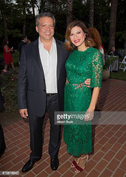 Producer Michael De Luca and actress Angelique Madrid attend the Spirit Of Hope Dinner Arrivals on September 27 2016 in Los Angeles California