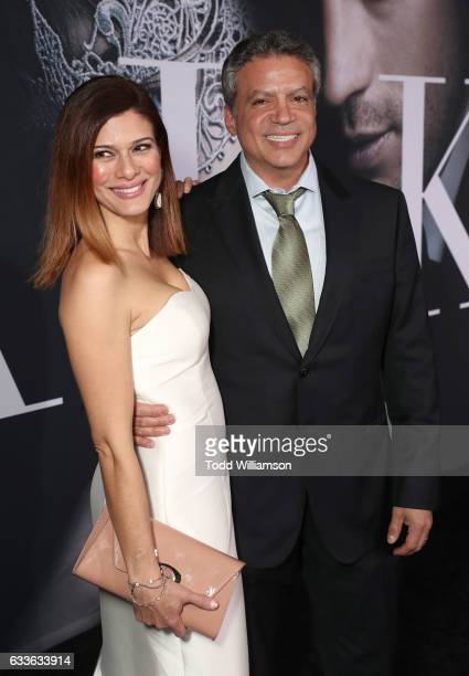 Producer Michael De Luca and Angelique Madrid attend the premiere of Universal Pictures' 'Fifty Shades Darker' at The Theatre at Ace Hotel on...
