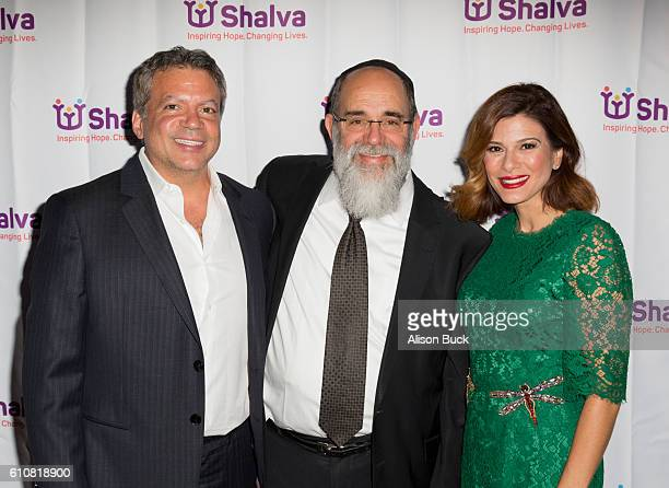 Producer Michael De Luca Founder of Shalva Kalman Samuels and actress Angelique Madrid attend the Spirit Of Hope Dinner Arrivals on September 27 2016...