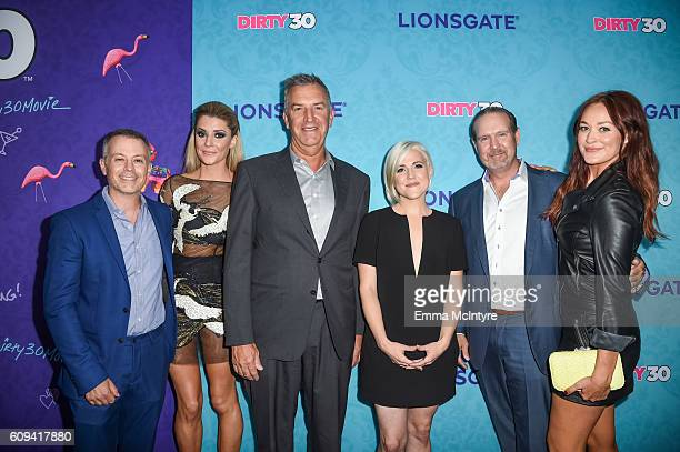 Producer Michael Goldfine, actress/comedian Grace Helbig, Co-Chief Operating Officer and Co-President, Motion Picture Group, Lionsgate, Steve Beeks,...