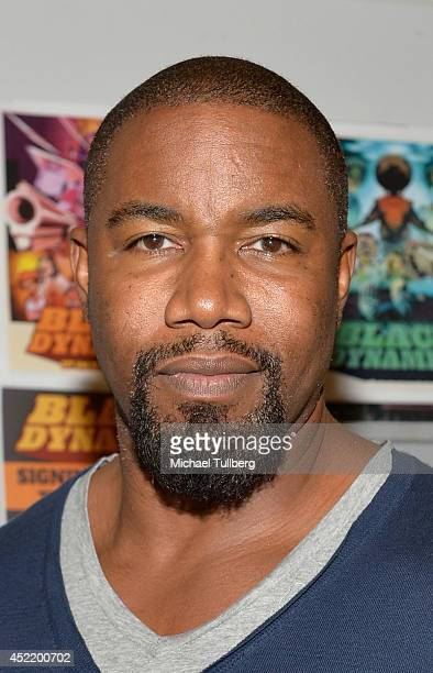 Producer Michael Jai White attends a signing for the new DVD Black Dynamite at Amoeba Music on July 15 2014 in Hollywood California