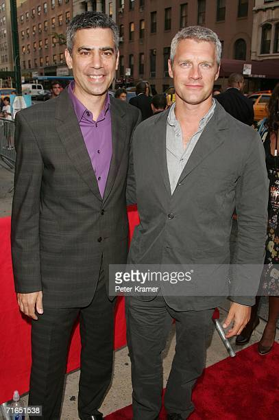 Producer Michael London and writer/director Neil Burger attend Yari Film Group's premiere of The Illusionist at Chelsea West Cinemas August 15 2006...