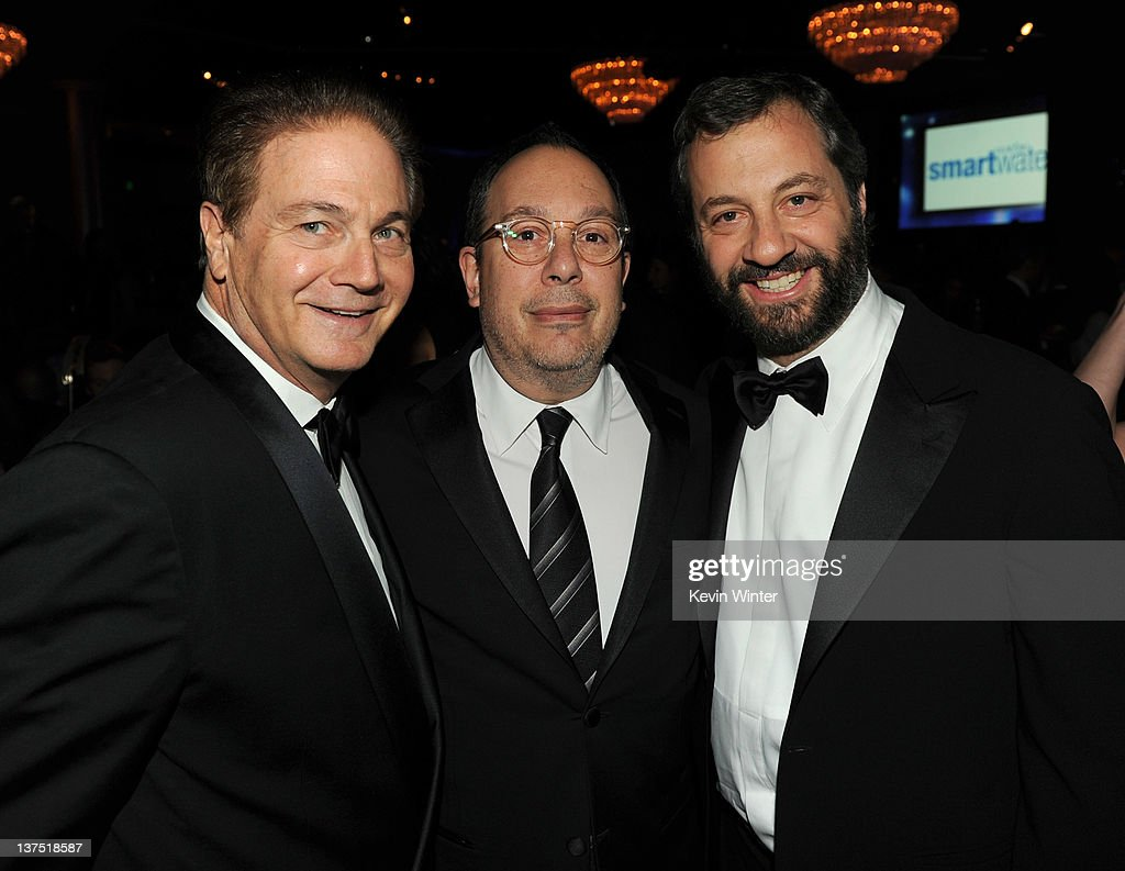 Producer Michael Manheim, President PGA Mark Gordon and Director Judd Apatow attend the 23rd annual Producers Guild Awards at The Beverly Hilton hotel on January 21, 2012 in Beverly Hills, California.