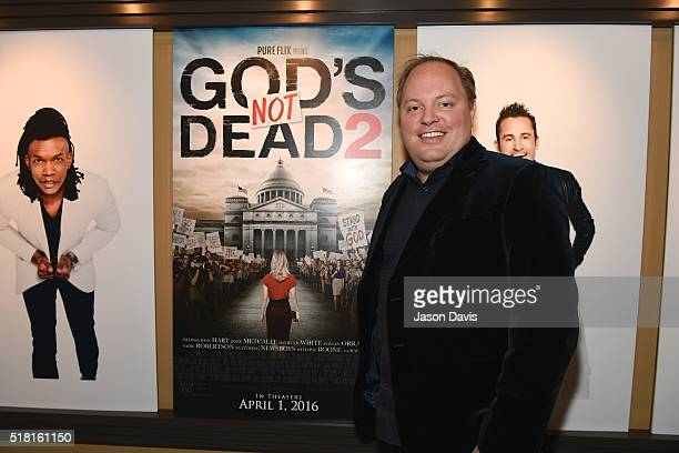Producer Michael Scott arrives at the Newsboys/Pureflix Nashville Premiere of 'God's Not Dead 2' at Franklin Theatre on March 29 2016 in Franklin...