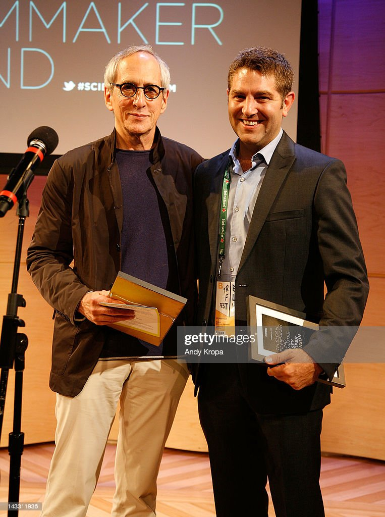 Producer Michael Shamberg and producer Casey Cooper Johnson attend the Sloan WIP Readings & Cocktails during the 2012 Tribeca Film Festival at The Green Space on April 23, 2012 in New York City.
