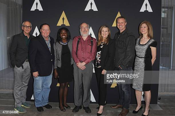 Producer Michael Shamberg CEO of Pixar Walt Disney Animation Studios and DisneyToon Studios John Lasseter student filmmaker Tayo Amos author Henry...