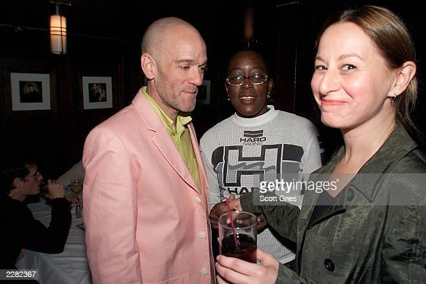 Producer Michael Stipe writer/director Cheryl Dunye and VP of HBO Films Maud Nadler at the post premiere party for 'Stranger Inside' at The Screening...