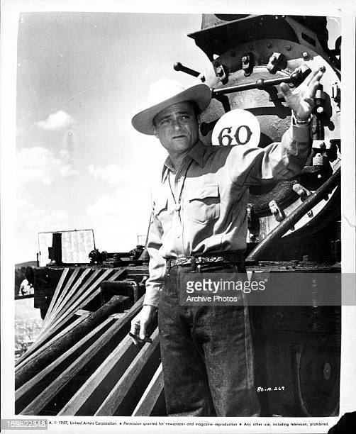 Producer Michael Todd on the set of the film 'Around The World In Eighty Days' 1956