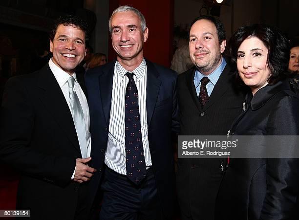 Producer Michael Wimer director/producer Roland Emmerich producer Mark Gordon and Warner Bros' Veronica Kwanrubinek arrive at the premiere of Warner...