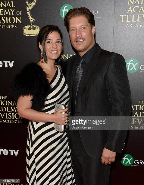 Producer Michele Vega and actor Sean Kanan attend The 41st Annual Daytime Emmy Awards at The Beverly Hilton Hotel on June 22 2014 in Beverly Hills...