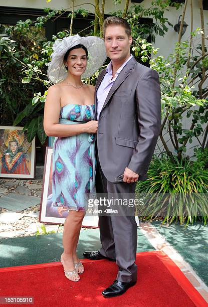 Producer Michele Vega and actor Sean Kanan attends the 2nd Annual Celebrity Garden Party Fundraiser Memorabilia Auction For Motion Picture Home...