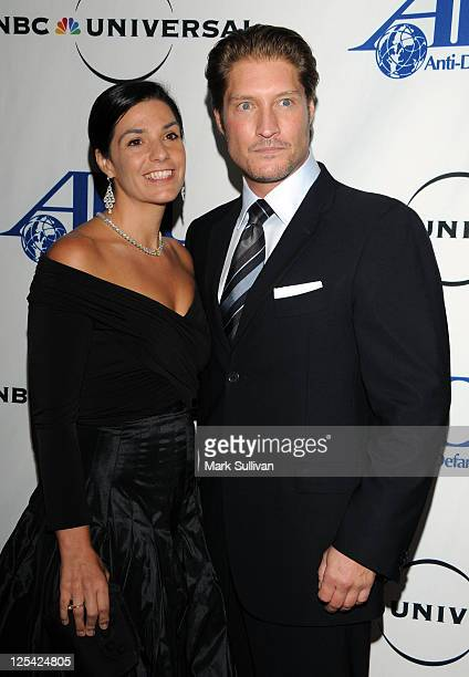 Producer Michele Vega and actor Shaun Canan arrive for The AntiDefamation League Entertainment Industry Awards Dinner honoring Jeff Gaspin at the...