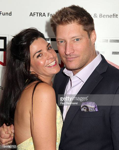 Producer Michele Vega and husband actor Sean Kanan attend AFTRA Foundation's Inaugural Frank Nelson Fund Celebrity Poker Party at Mulholland Tennis...