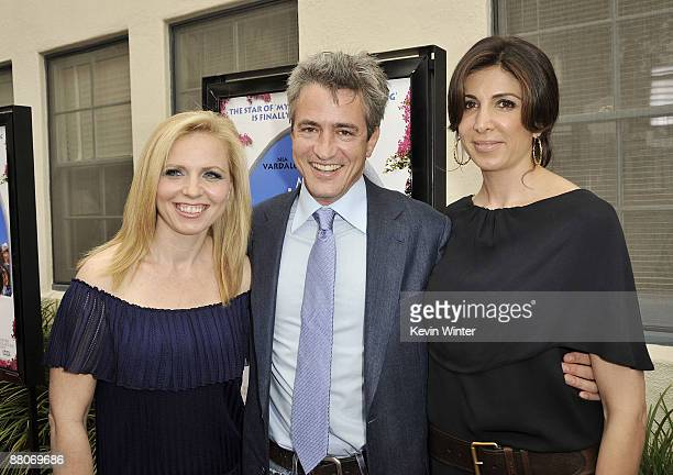 Producer Michelle Chydzik actor Dermot Mulroney and producer Nathalie Marciano pose at the premiere of Fox Searchlight's My Life in Ruins at the...