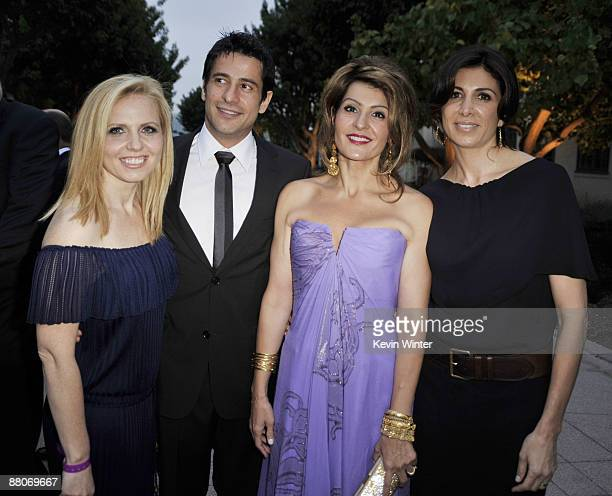 Producer Michelle Chydzik actors Alexis Georgoulis Nia Vardalos and producer Nathalie Marciano pose at the premiere of Fox Searchlight's My Life in...