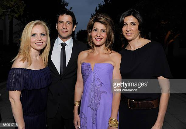 Producer Michelle Chydzik actors Alexis Georgoulis Nia Vardalos and producer Nathalie Marciano arrive at the Los Angeles premiere of ''My Life In...