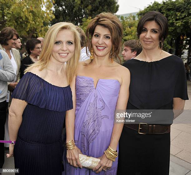 Producer Michelle Chydzik actress Nia Vardalos and producer Nathalie Marciano pose at the premiere of Fox Searchlight's My Life in Ruins at the...