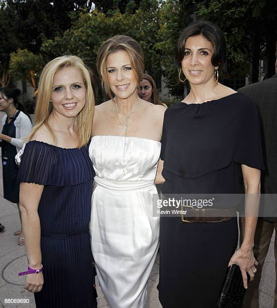 Producer Michelle Chydzik actress Rita Wilson and producer Nathalie Marciano pose at the premiere of Fox Searchlight's My Life in Ruins at the Zanuck...
